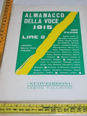 Almanacco della Voce 1915 - Nuovedizioni Enrico Vallecchi
