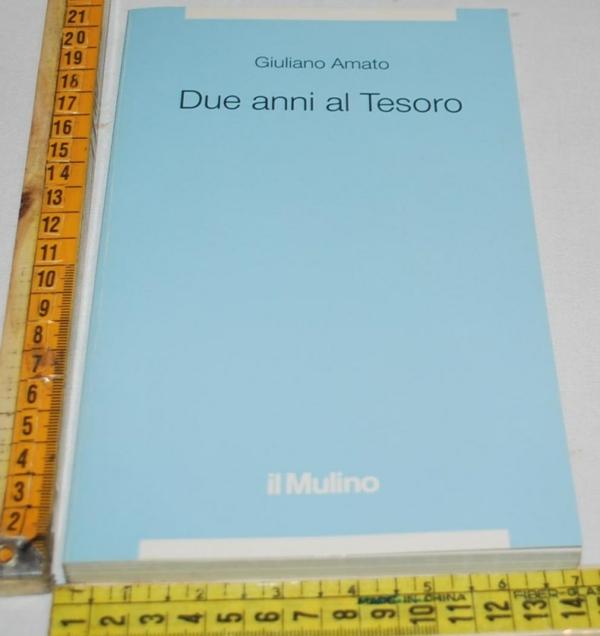 Amato Giuliano - Due anni al Tesoro - Il Mulino