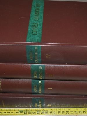 Calamandrei Piero - Opere giuridiche - Morano editore 4 volumi