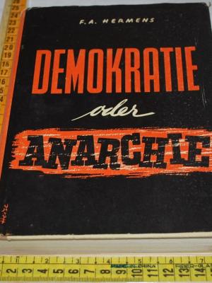 Hermens - Demokratie oder anarchie? - Metzner Verlag