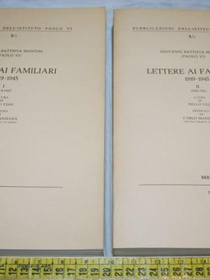 Montini Giovanni Battista - Lettere ai familiari 1919-1943 vol I-II